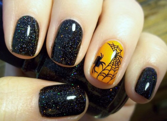 Halloween nail art pow femme fatale 25 simple easy scary halloween nail art designs prinsesfo Choice Image